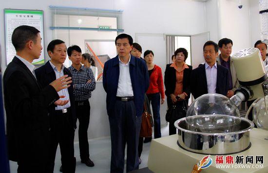 代表们实地察看企业技术开发研究室,并听取汇报。.JPG