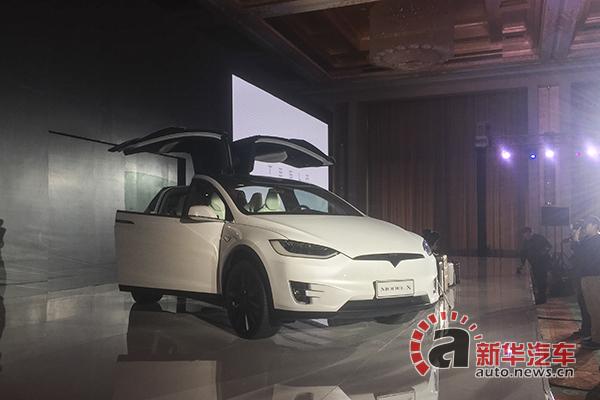 特斯拉Model X中国市场亮相
