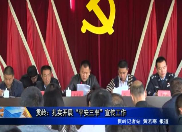"""贯岭:扎实开展""""平安三率""""宣传工作"""
