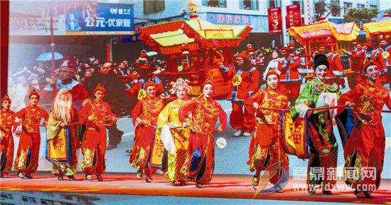 《五福茶轿》背后包含着群众祈福愿望