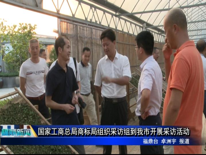 国家工商总局商标局组织采访组到我市开展采访活动