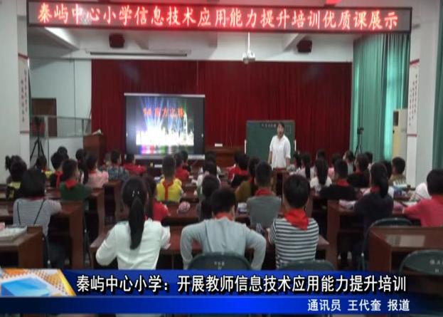 秦屿中心小学:开展教师信息技术应用能力提升培训