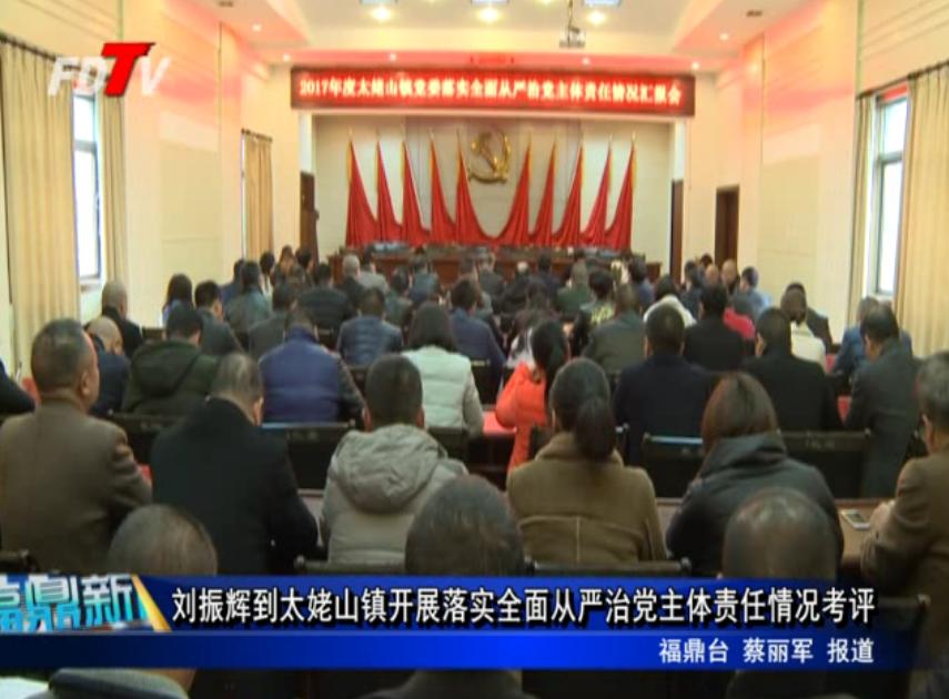 刘振辉到太姥山镇开展落实全面从严治党主体责任情况考评