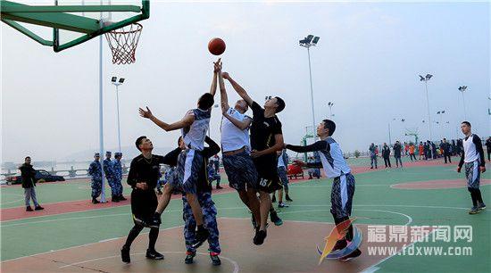 """全市首届""""军民融合杯""""篮球赛开赛"""