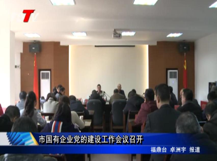 市国有企业党的建设工作会议召开