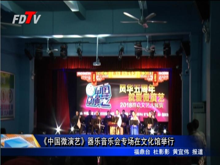 《中国微演艺》器乐音乐会专场在文化馆举行