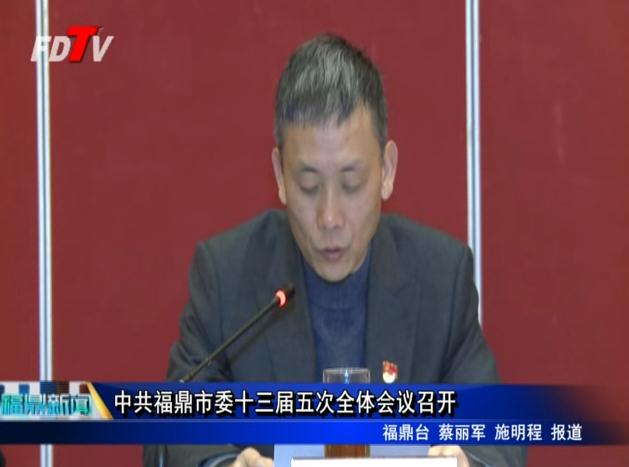 中共福鼎市委十三届五次全体会议召开