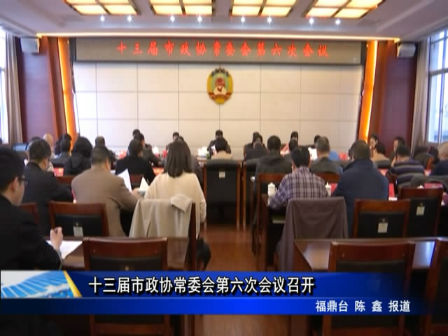 十三届市政协常委会第六次会议召开