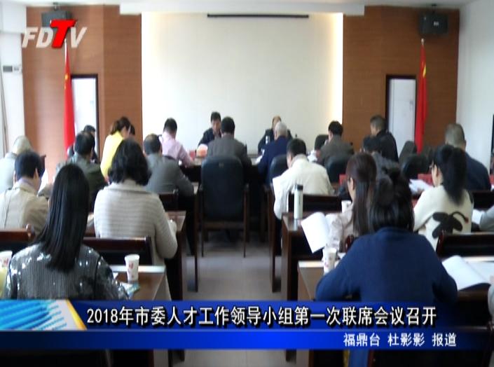 2018年市委人才工作领导小组第一次联席会议召开