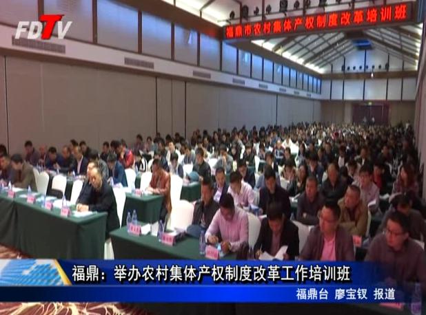 福鼎:举办农村集体产权制度改革工作培训班