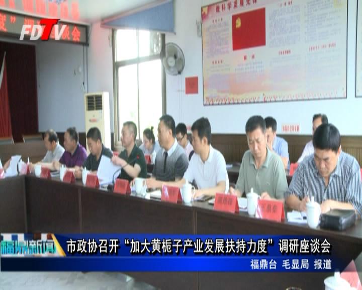 """市政协召开""""加大黄栀子产业发展扶持力度""""调研座谈会"""