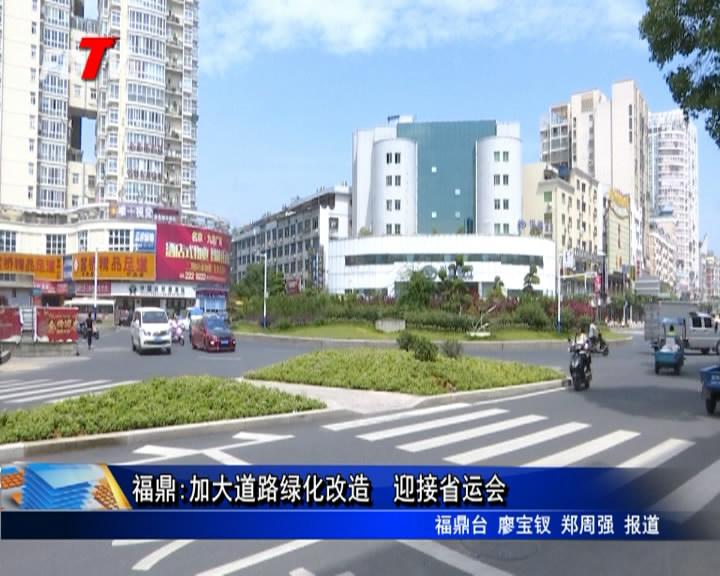 福鼎:加大道路绿化改造  迎接省运会