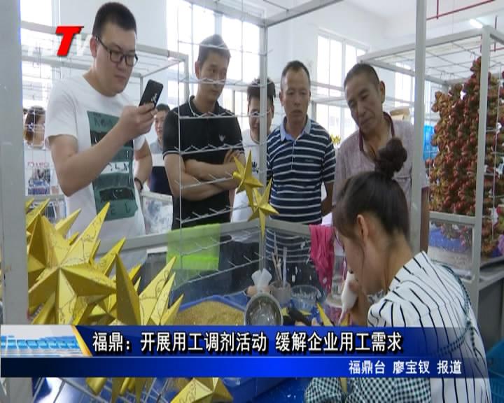 福鼎:开展用工调剂活动 缓解企业用工需求