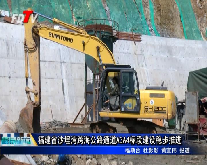 福建省沙埕湾跨海公路通道A3A4标段建设稳步推进