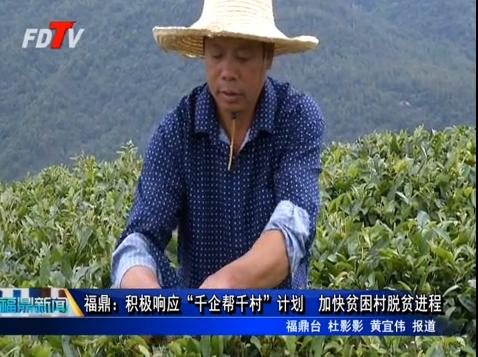 """福鼎:积极响应""""千企帮千村""""计划 加快贫困村脱贫进程"""