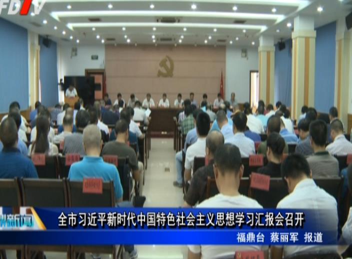 全市习近平新时代中国特色社会主义思想学习汇报会召开