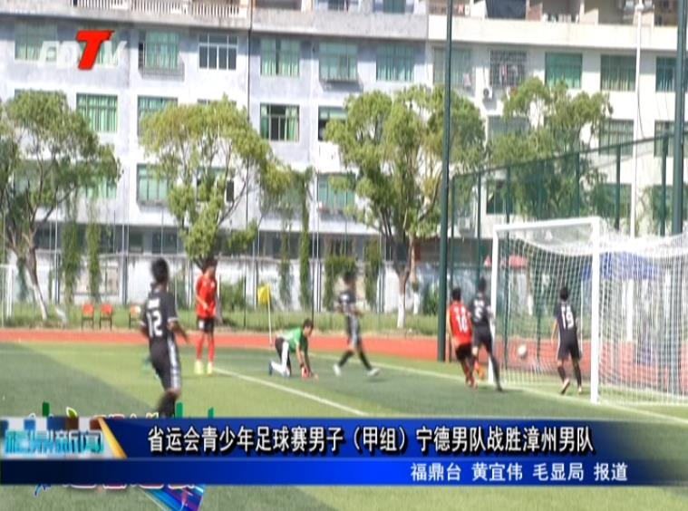省运会青少年足球赛男子(甲组)宁德男队战胜漳州男队