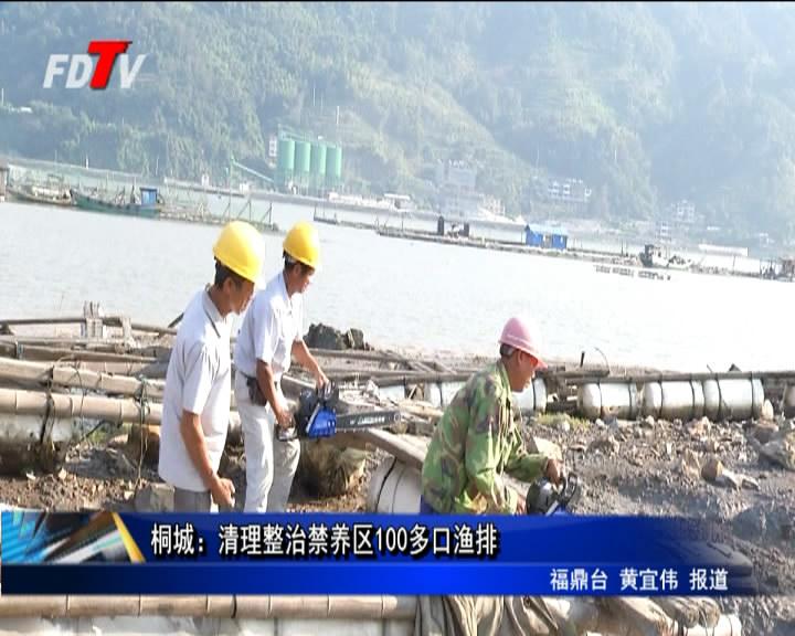 桐城:清理整治禁养区100多口渔排