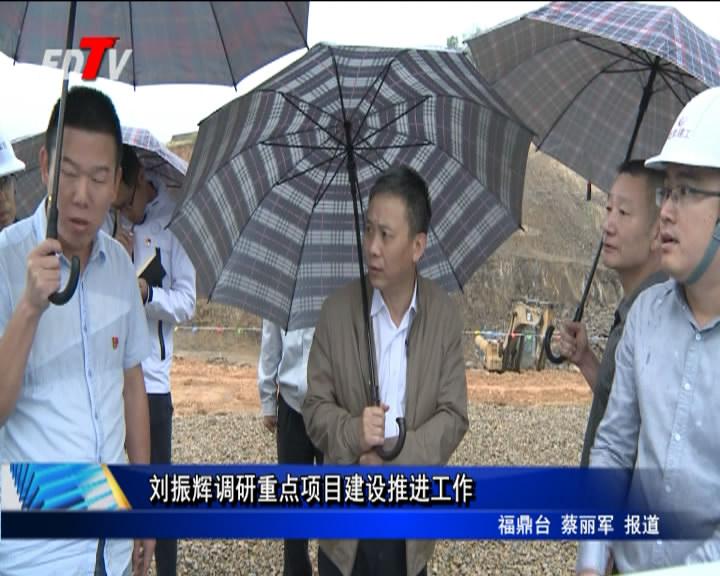 刘振辉调研重点项目建设推进工作