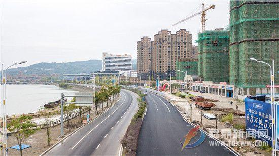 江滨南大道(灰窑至岗尾码头路段)及百胜大道道路提升改造工程进入收尾阶段