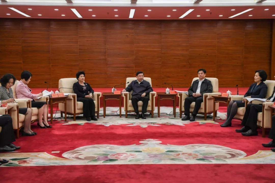重磅!于伟国与参加中国妇女第十二次全国代表大会的我省代表座谈