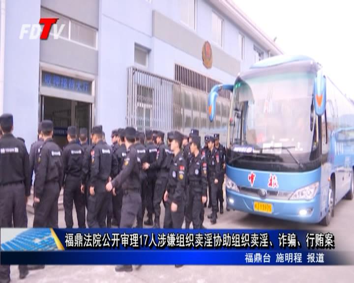 福鼎法院公然审理17人涉嫌构造卖淫帮忙构造卖淫、诈骗、贿赂案