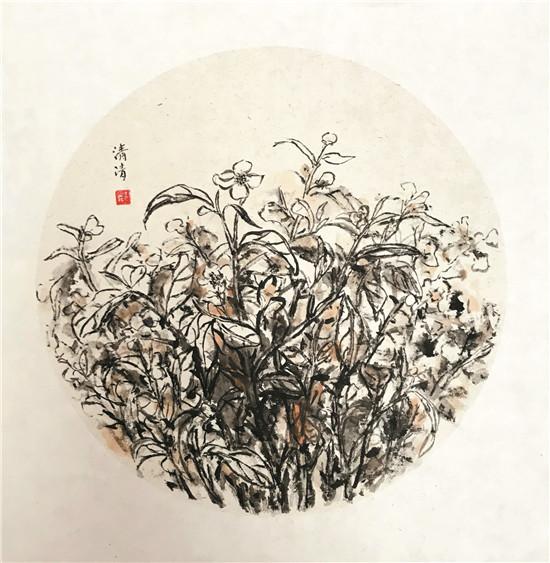 太姥浊音 ———郑清清国画茶之花作品在第五届中华茶奥会上展出