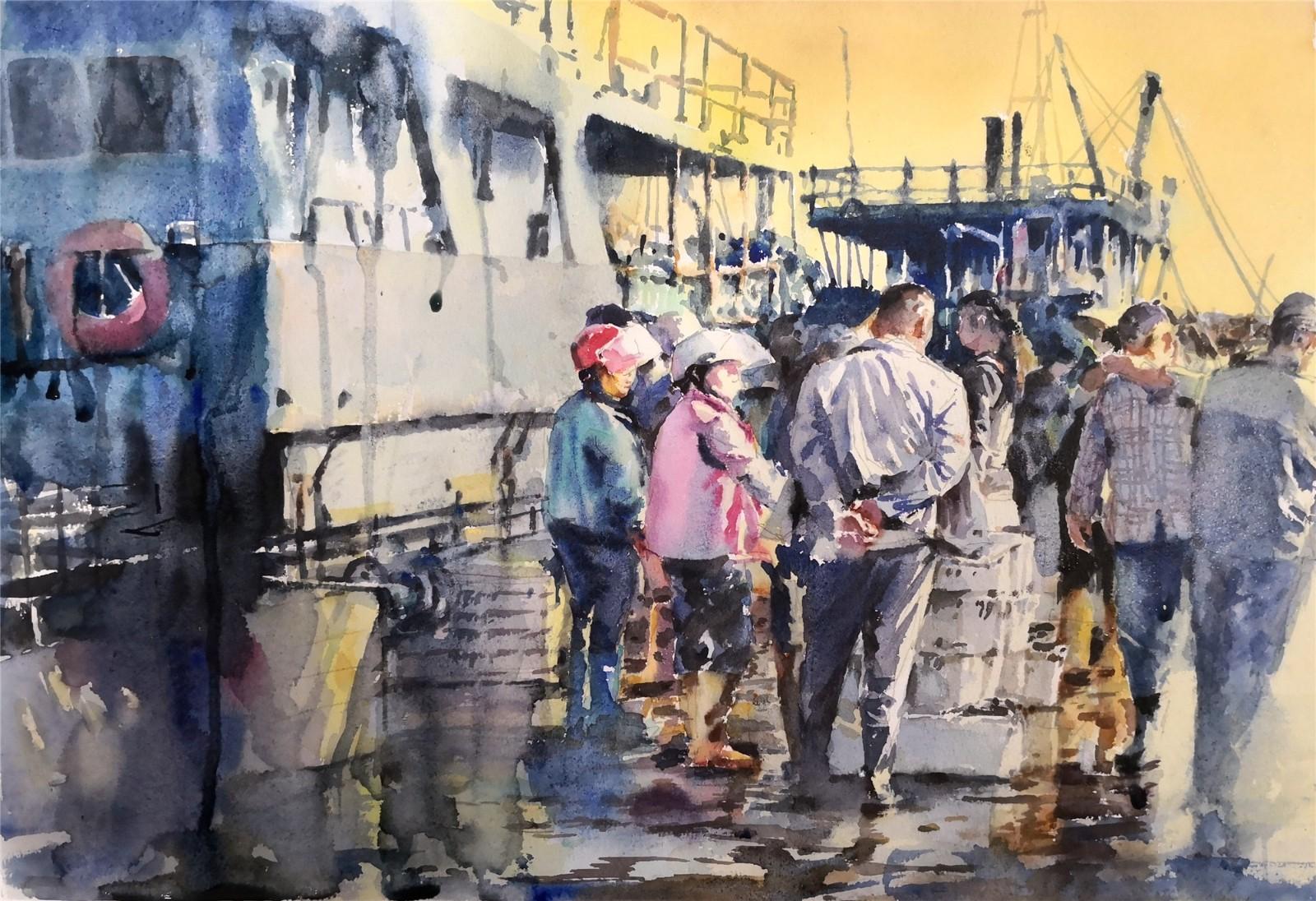 我市画家作品当选2019意大利法布里亚诺国际水彩节水彩展