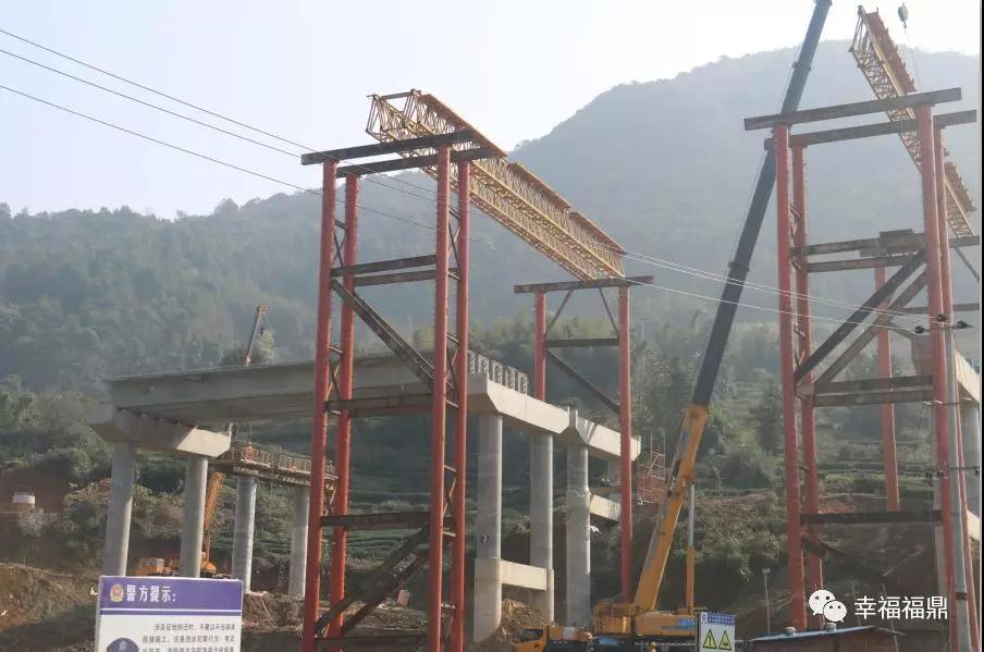 沙埕湾跨海大桥的主墩已筑基完成