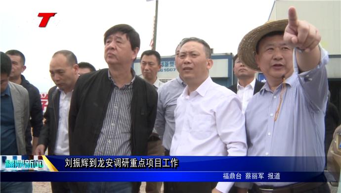 刘振辉到龙安调研重点项目工作