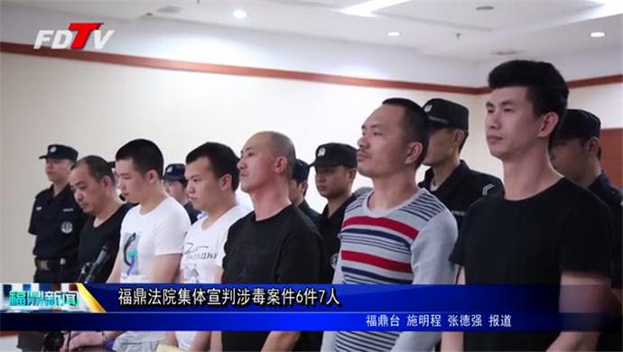 福鼎法院集体宣判涉毒案件6件7人