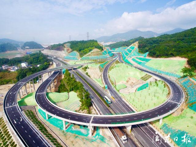 沈海高速公路三屿互通今日通车试运营