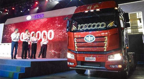 我国自主研发的解放牌第六代卡车产销达100万辆