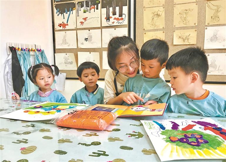 福鼎:社区公益课堂点亮暑期生活