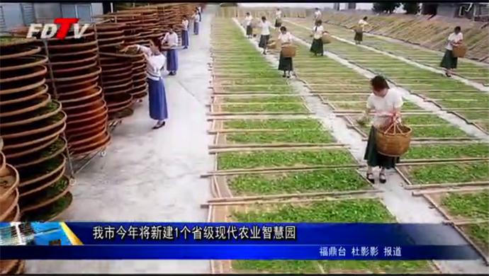 我市今年将新建1个省级现代农业智慧园