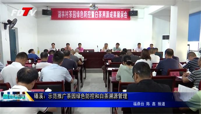 磻溪:示范推广茶园绿色防控和白茶溯源管理