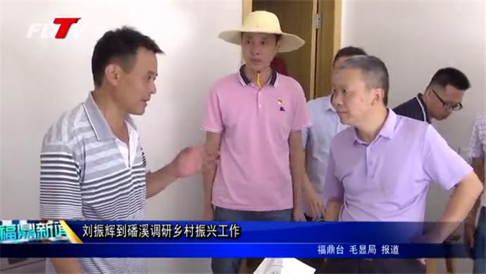 刘振辉到磻溪调研乡村振兴工作