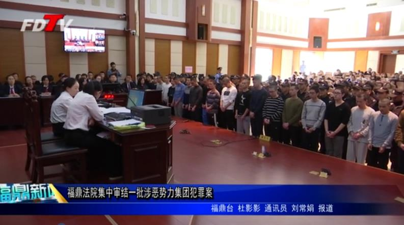 福鼎法院集中审结一批涉恶势力集团犯罪案