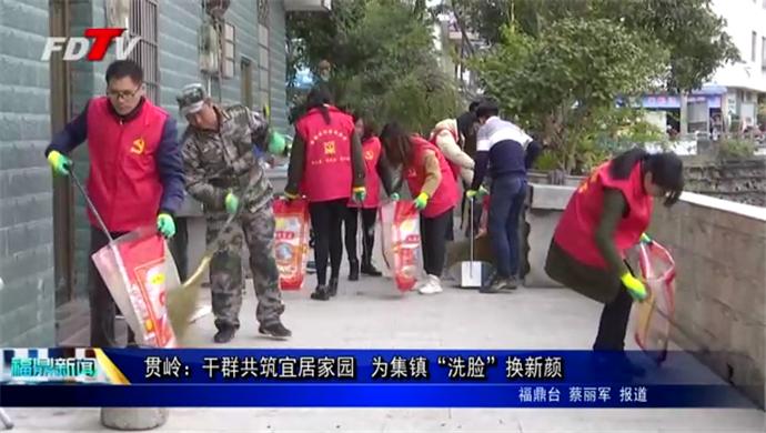 """贯岭:干群共筑宜居家园 为集镇""""洗脸""""换新颜"""
