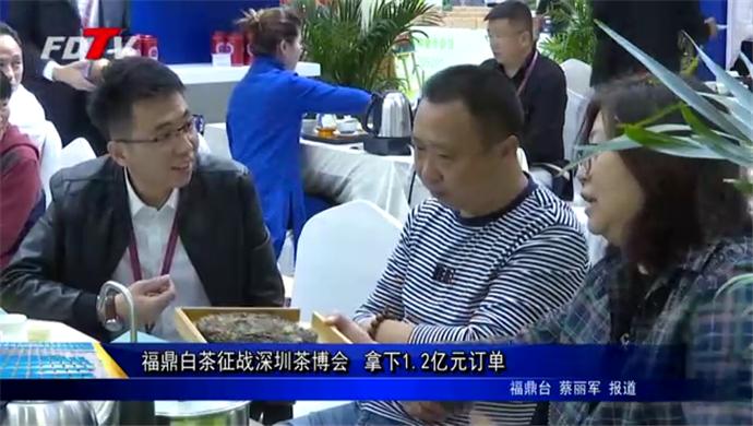 福鼎白茶征战深圳茶博会拿下1.2亿元订单