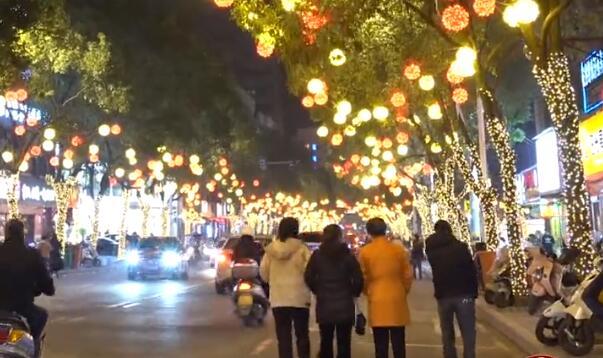【网络中国节·春节】小城年味夜景|短视频