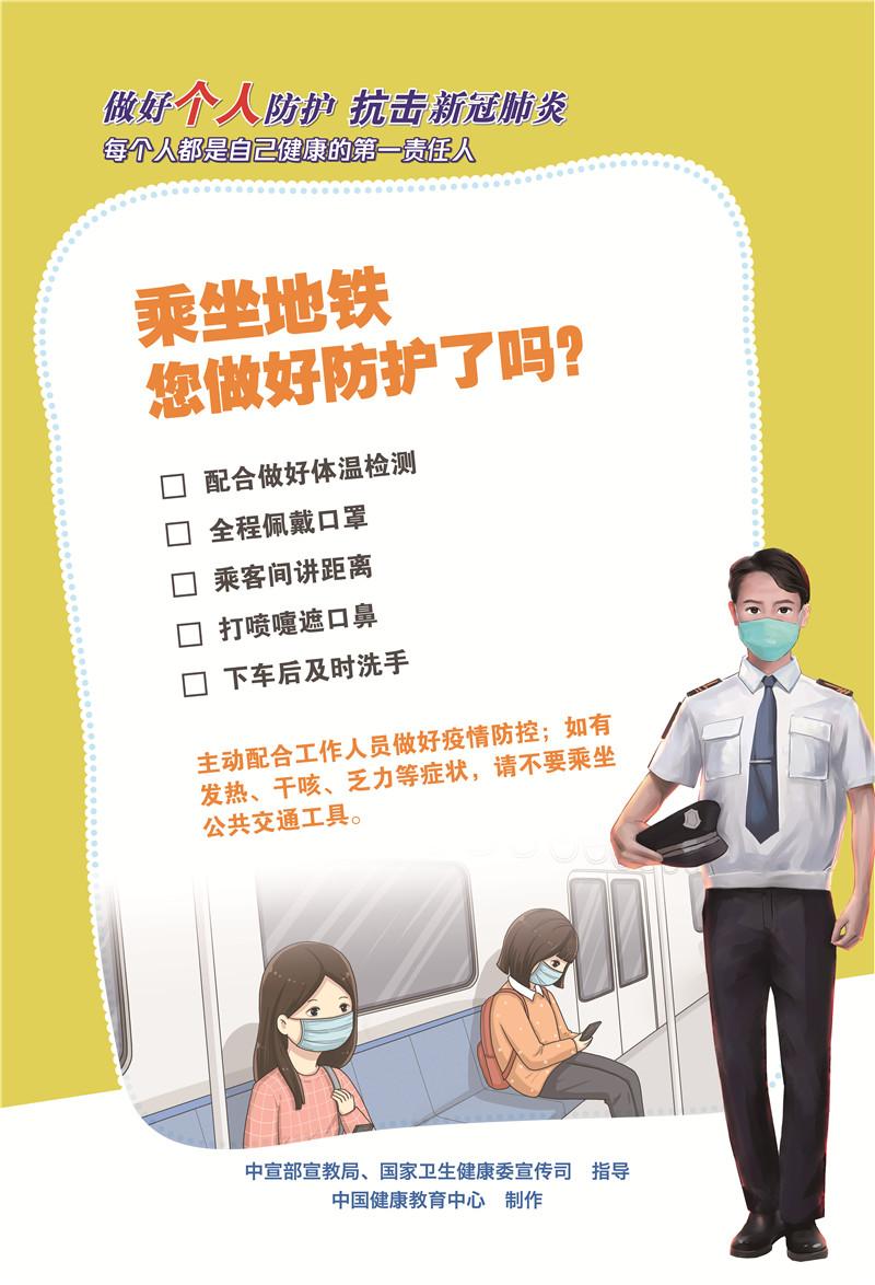 乘坐地铁您做好防护了吗?