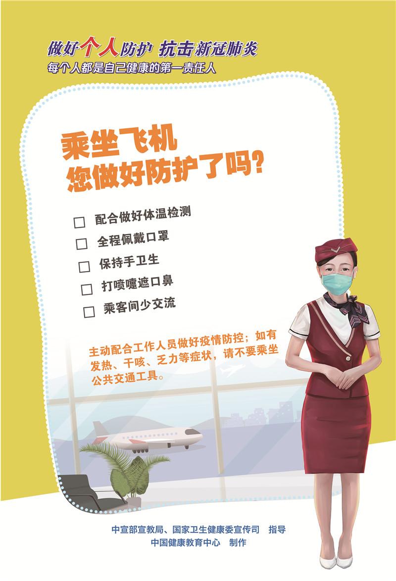 乘坐飞机您做好个人防护了吗?