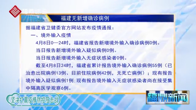 今日福建无新增确诊病例