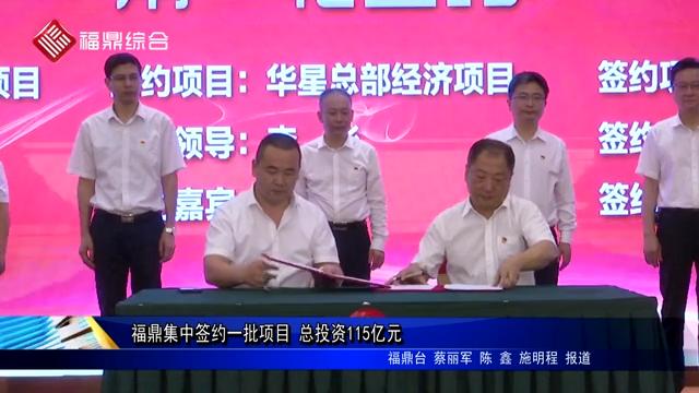 福鼎集中签约一批项目 总投资115亿