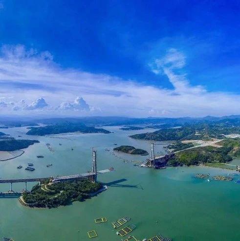 沙埕湾跨海大桥俯瞰图来了,横屏观看效果更佳!
