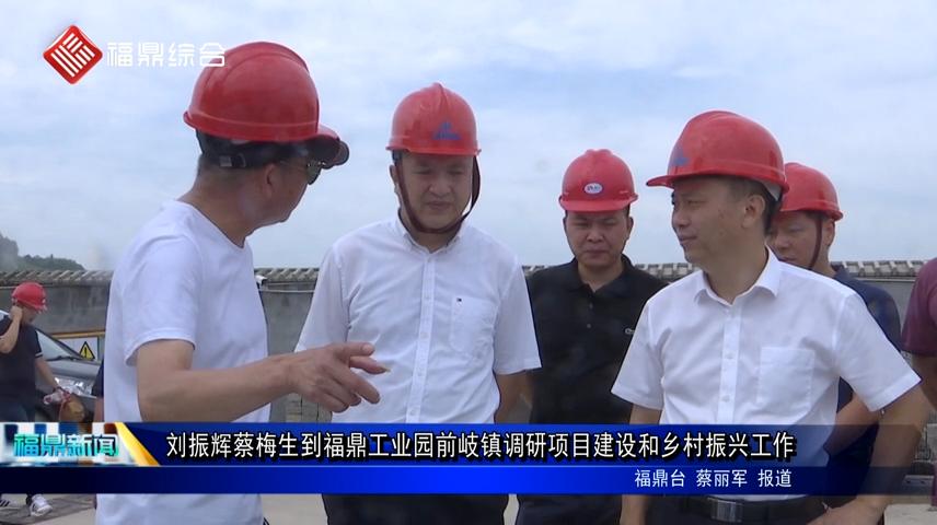 刘振辉蔡梅生到福鼎工业园前岐镇调研项目建设和乡村振兴工作