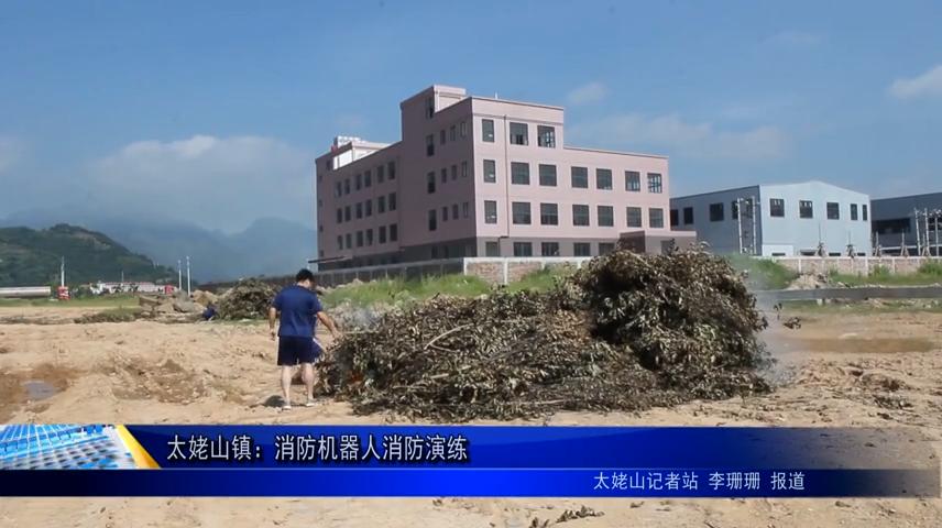 太姥山镇:消防机器人消防演练