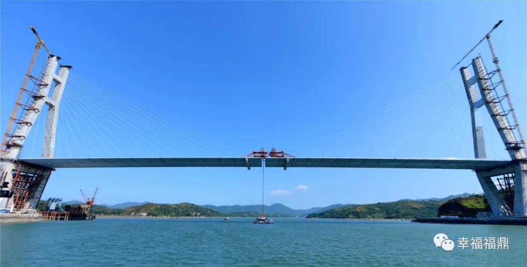 沙埕湾跨海大桥 主桥合龙