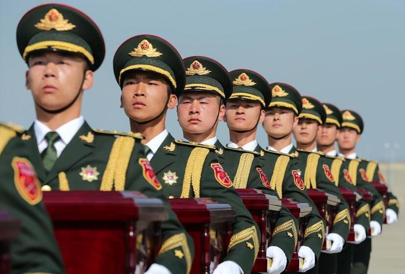 第六批在韩中国人民志愿军烈士遗骸交接仪式在韩国举行